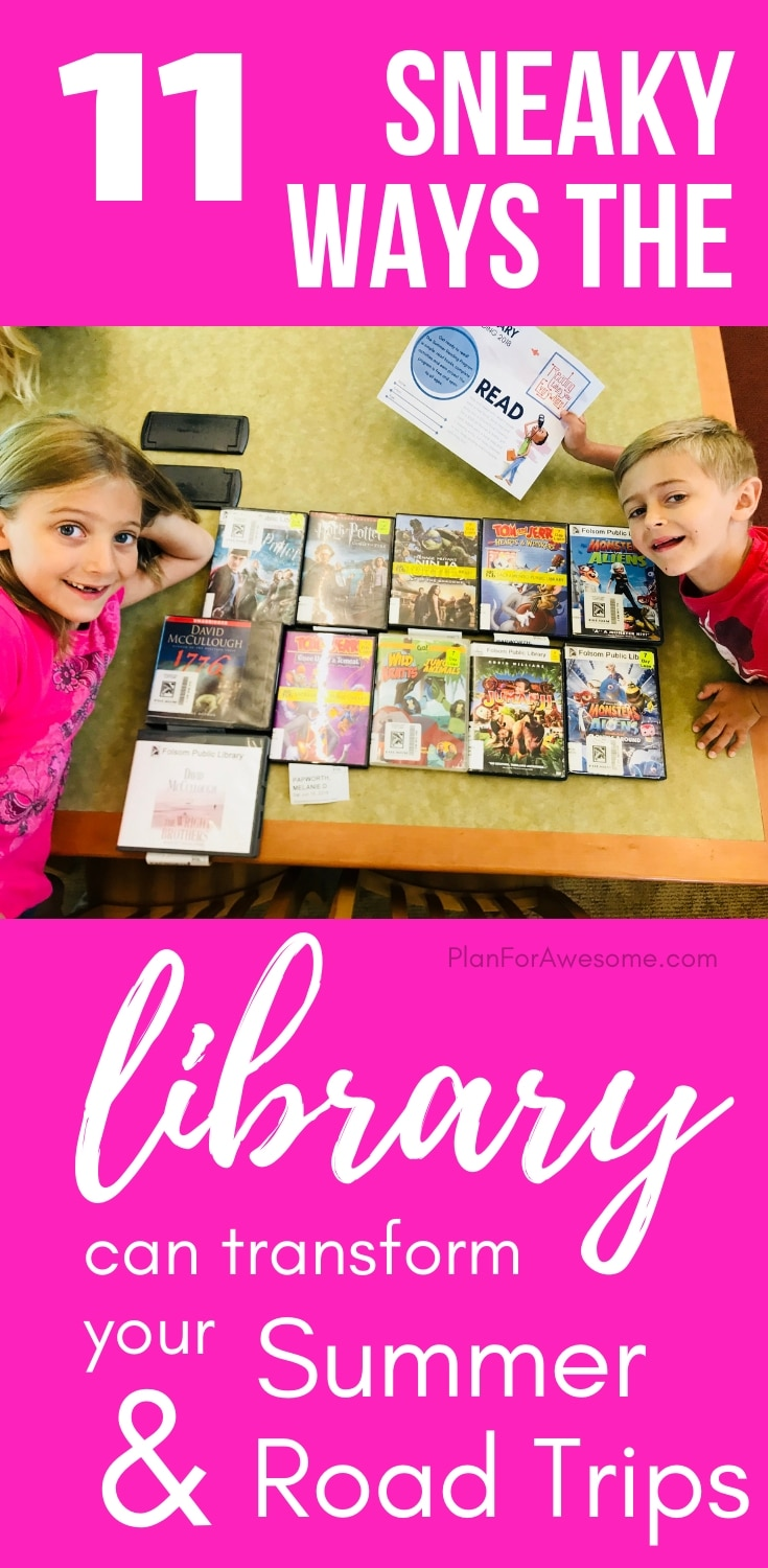 11 Sneaky Ways the Library Can Transform Summer & Road Trips - Tons of ideas on how to use the library for road trips, airplane trips, and just plain summer fun!  And hardly any of these ideas have to do with books!