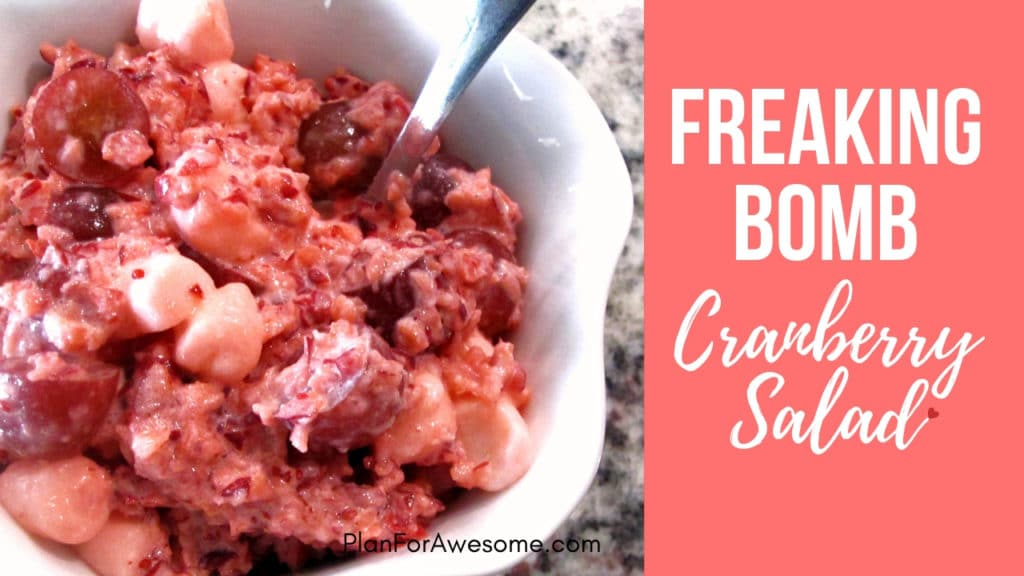 Freaking Bomb Cranberry Salad - Don't Holiday Without It! This salad is seriously amazing and is different from any other recipe I've seen out there...PlanForAwesome