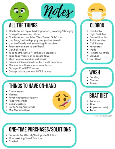 11 Absolutely Genius Mom Hacks for Taking Care of Sick Kids - I've never thought of these things before! If you are looking for tips on what to do when a kid gets the flu, or tips on how to keep the sick germs from spreading, look no further! This girl from PlanForAwesome.com has awesome ideas! #sickkids #momhacks