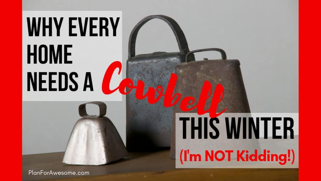 Why Every Home Needs a Cowbell This Winter (I'm Not Kidding!) - Sick kid remedies, what to do when a kid gets the flu, tending to your sick child - PlanForAwesome