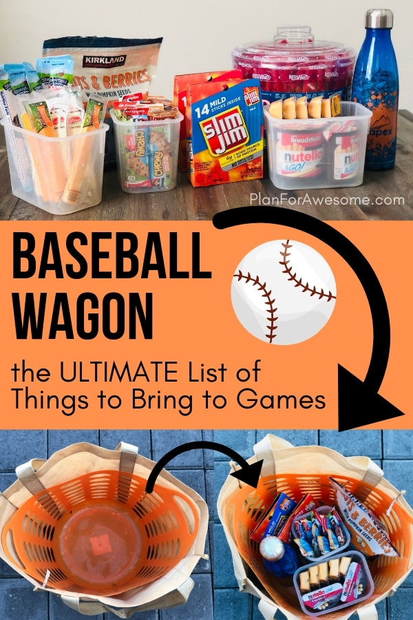 Baseball Wagon: The Ultimate List of Things to Bring to Little League Baseball Games- This is the BEST, most comprehensive list I have seen for what to bring to be prepared for baseball game days. This girl covers EVERYTHING.  She even has a cute, organized, and free printable checklist!