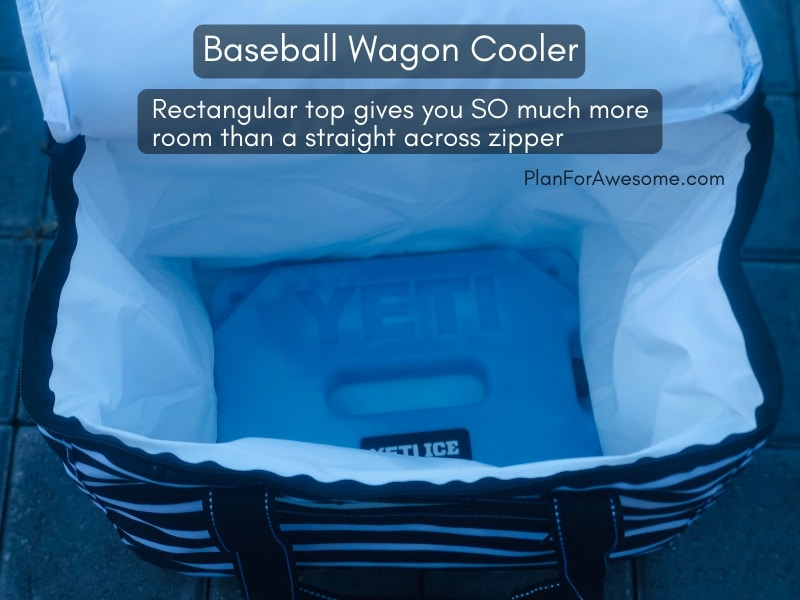 Baseball Wagon: The Ultimate List of Things to Bring to Little League Games - This is the BEST, most comprehensive list I have seen for what to bring to be prepared for baseball game days. This girl covers EVERYTHING, and even has a cute, organized, and free printable checklist!