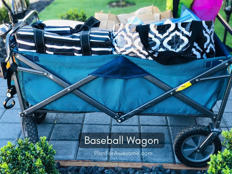 Baseball Wagon: The Ultimate List of Things to Bring to Little League Baseball Games- This is the BEST, most comprehensive list I have seen for what to bring to be prepared for baseball game days. This girl covers EVERYTHING, including where to buy things to get the best deals.  She even has a cute, organized, and free printable checklist!