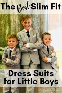 The BEST 6-piece slim fit dress suits for boys; unbeatable quality, stylish, and affordable! Perfect for all occasions including weddings, funerals, and just plain church!