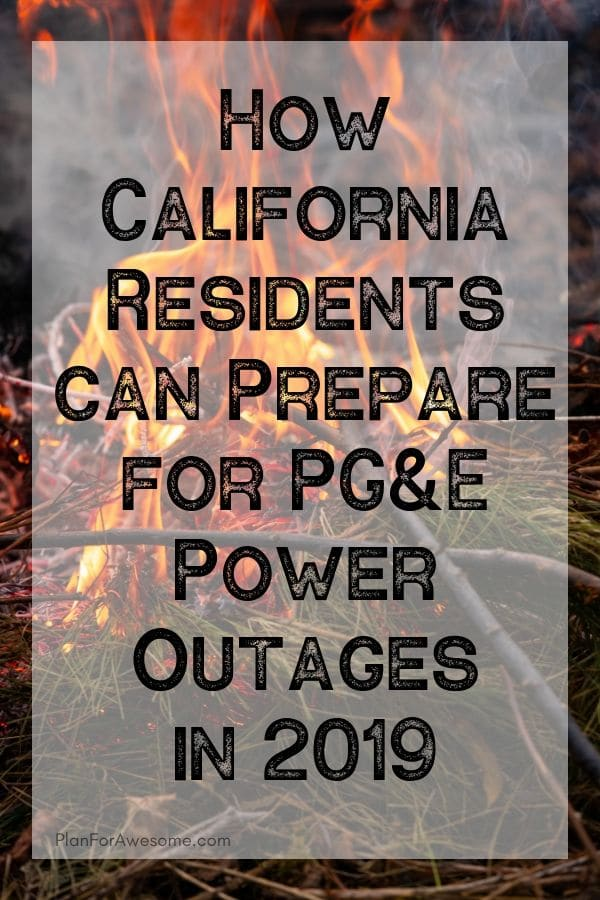 GREAT resource for California residents to be able to prepare for this upcoming wildfire season in 2019 when PG&E will cut power for longer than 48 hours!  #californiafires #poweroutage