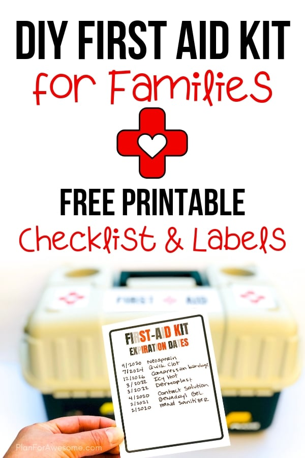 Adorable free printable list of things to include in your family's first aid kit, as well as labels for your kit, an expiration date tracker, and a notes section. This girl is SO HELPFUL because she explains why to include certain things, provides helpful links, and compares different products. GREAT resource! #firstaidkit #beprepared