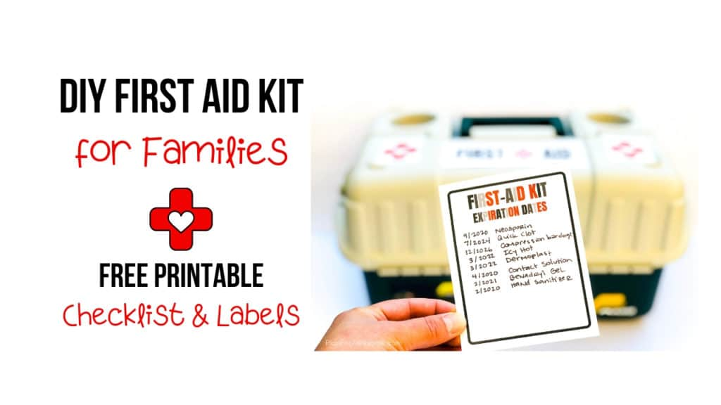 Awesome free printable checklist of things to include in your family's first aid kit, as well as labels for your kit, an expiration date tracker, and a notes section! This is so helpful! This girl explains why, includes helpful links, and compares different products. GREAT resource! #firstaidkit #beprepared