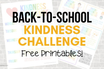 Free Printable Back-to-School Kindness Challenge! Can't wait to do this with my kids the first week of school - and these printables are so dang cute! #kindness #backtoschool