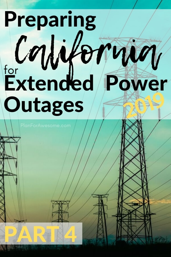 This is an awesome website to help prepare for power outages and even has a free printable checklist!  I am so glad I found PlanForAwesome.com, since California is going to have planned power outages this fire season - this girl's stuff is GOLD! #emergencypreparedness #poweroutage