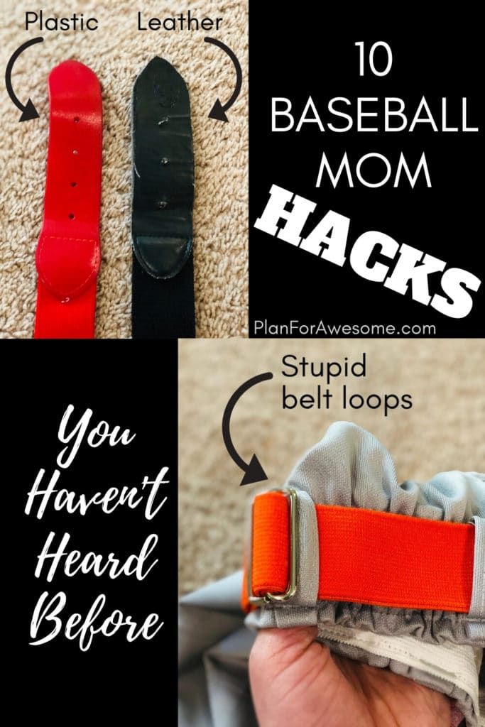 BRILLIANT hacks for baseball moms! This girl has some awesome ideas on how to save money and your sanity this baseball season! My favorite hack is #8! PlanForAwesome #baseballmom #littleleague #baseballtips #baseball