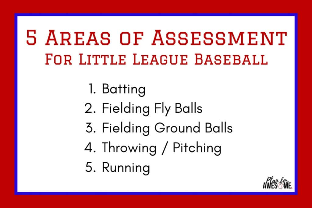 5 Areas of Assessment for Little League Baseball #baseballmom #littleleaguemom