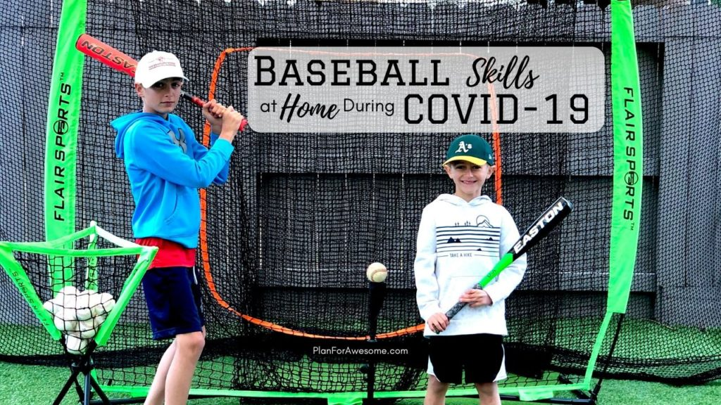 3 Awesome Ideas to Work on Baseball Skills at Home Amid COVID-19 - These are our favorite pieces of baseball equipment for our backyard and the best part is that the kids can do it by themselves! #littleleaguemom #baseballpracticeathome