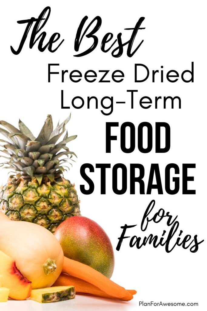 The BEST Freeze Dried Long-Term Food Storage for Families - this was SO HELPFUL, especially since I am trying to get more prepared with the coronavirus!  This girl answered all of my questions about long-term food storage, what the difference is between freeze dried and dehydrated food, what the best deals are, etc!  #foodstorage #longtermfoodstorage #coronavirus