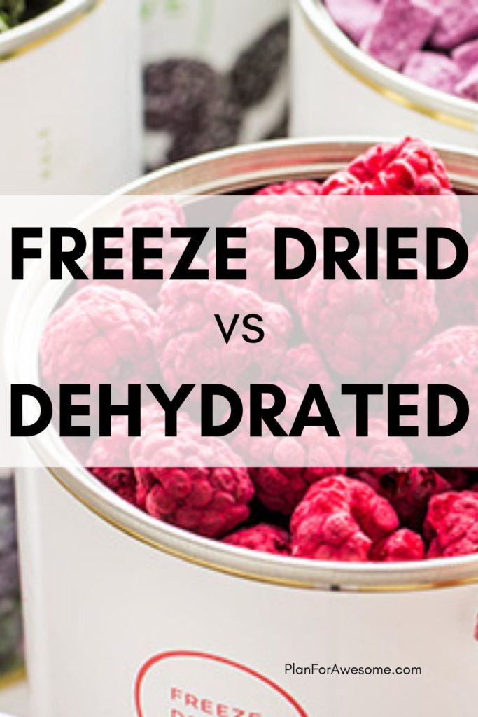 What is the difference between freeze dried and dehydrated food for food storage?  #foodstorage #longtermfoodstorage #coronavirus