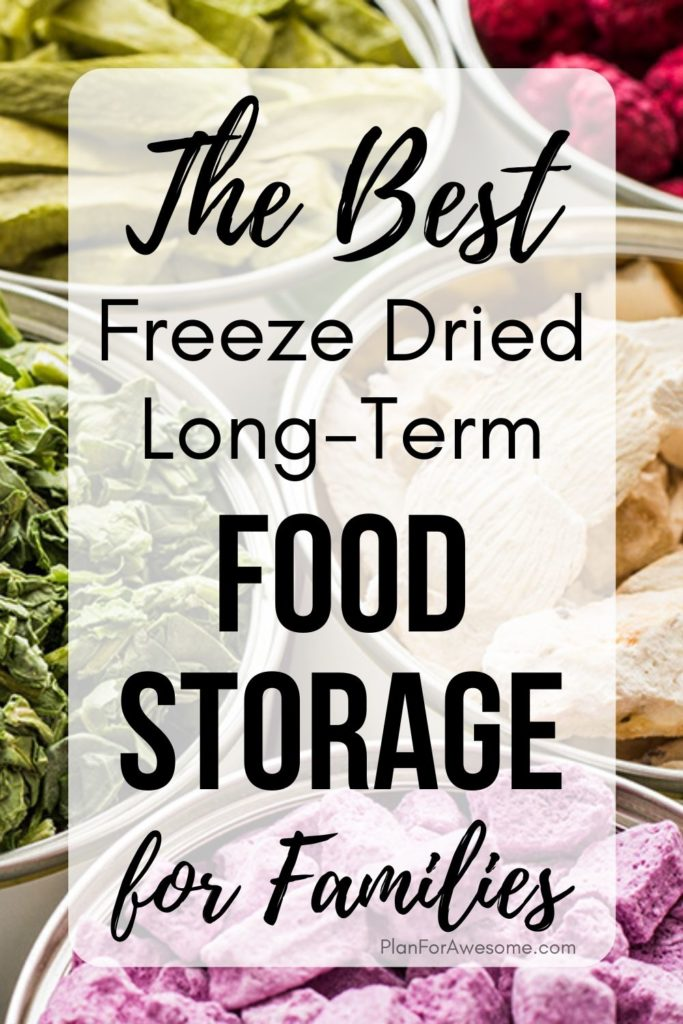 The BEST Freeze Dried Long-Term Food Storage for Families - this article was SO HELPFUL, especially since I am trying to get more prepared with the coronavirus!  She answered all of my questions about long-term food storage, what the difference is between freeze dried and dehydrated food, what the best deals are, etc!  #foodstorage #longtermfoodstorage #coronavirus