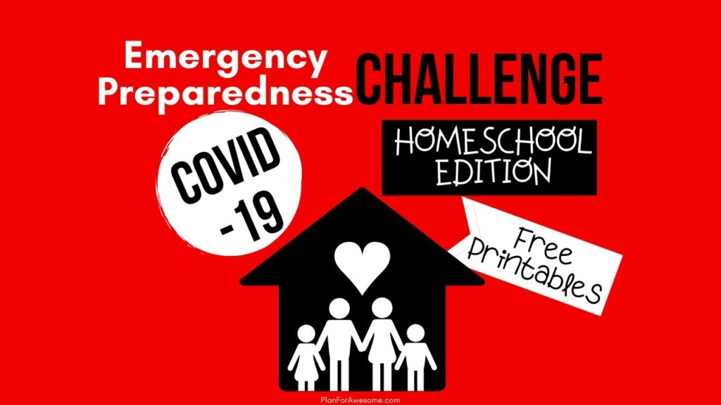 Covid-19 Emergency Preparedness Challenge: Homeschool Edition! I LOVE this idea! This girl is so intentional with teaching her kids and including them in her emergency preparedness. This is a great calendar - perfect ideas that aren't too hard or overwhelming to do with your kids! #covid19 #coronavirushomeschool