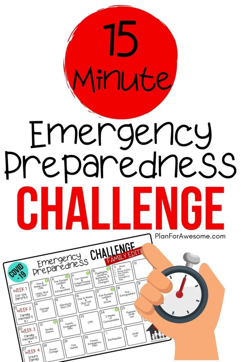 15-Minute Emergency Preparedness Challenge for Families